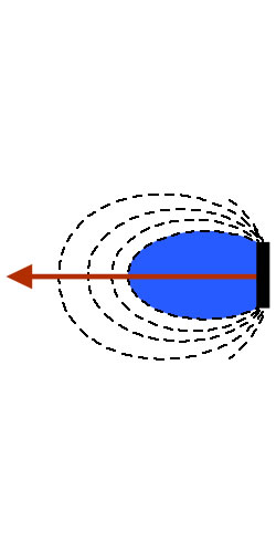 illustration of a cone speaker uni-directional capability