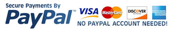 credit card and paypal logos