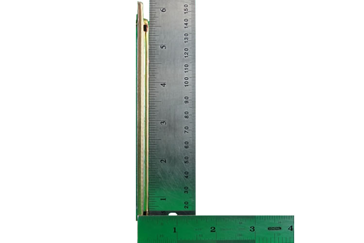 fps model 0212M side view with rulers